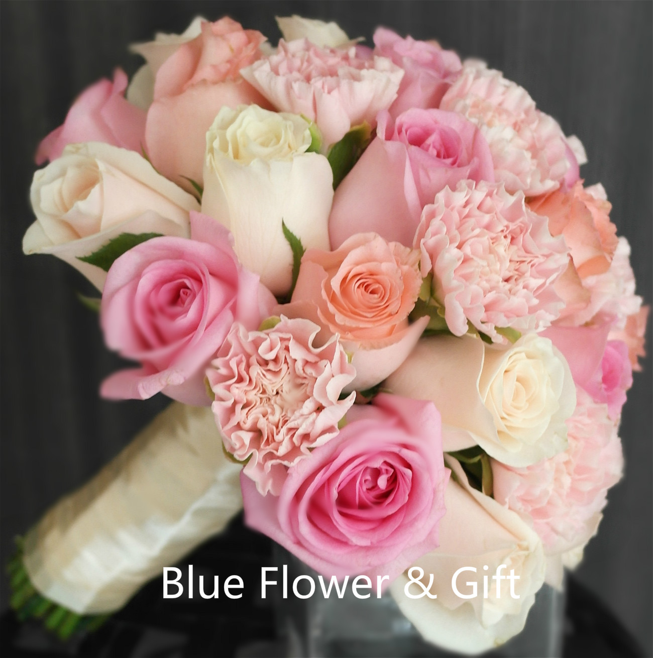 ROSE & CARNATION BOUQUET(Bridal 008)