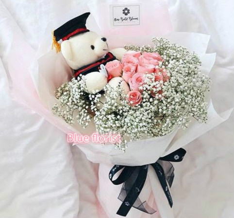 Roses & Baby breath Bouquet(GD 7)